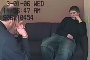 Brendan Dassey being interrogated by police